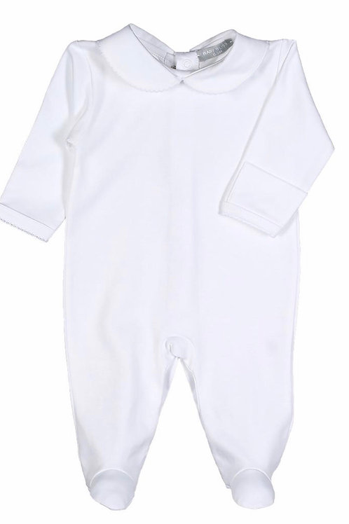Baby Bliss White Peter Pan Footie