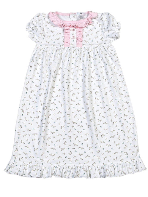 Baby Bliss Pima Pink Floral Gown 4t, 7