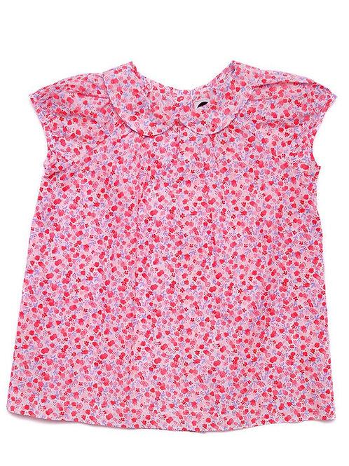 Pink Floral Clara Blouse