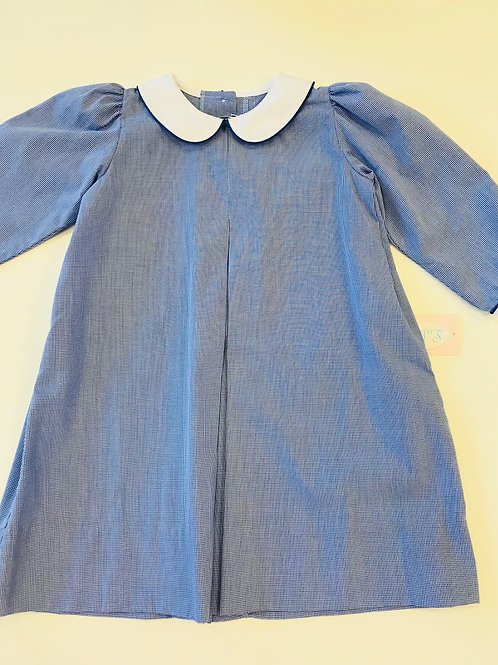 Lullaby Set Dress-Royal Blue Gingham