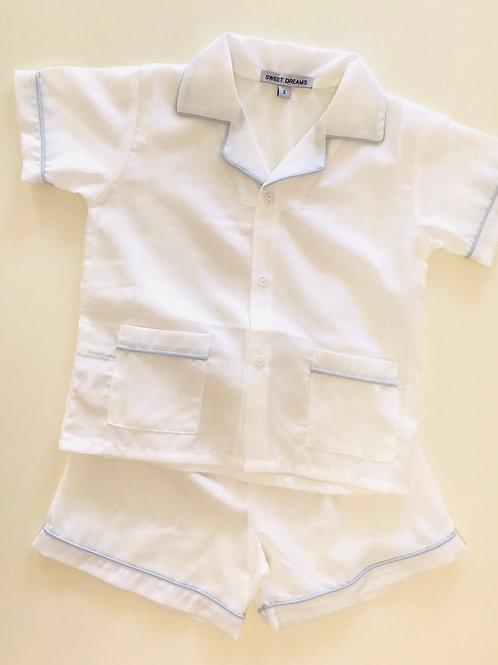 Sweet Dreams White with Blue Pajamas