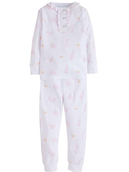 Little English Pink Bunny Pima Pajamas (18 mo-5)