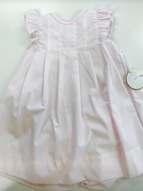Petit Ami Pleated Pink Dress 24  mo