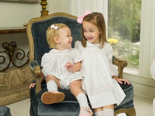 Lullaby Set Girls Batiste Smocked Dress