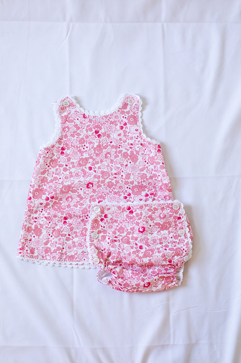 Peggy Green Libba Floral Bloomer Set-all pink floral