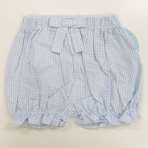 Little English light blue gingham bow bloomers 3,9 mo