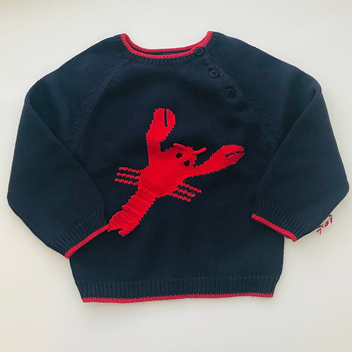 Zubels Navy Lobster Sweater