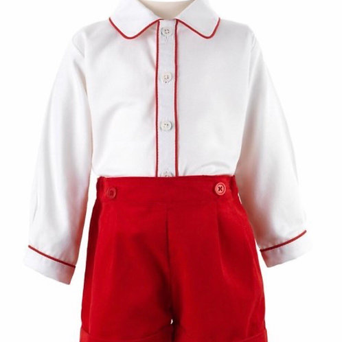 Rachel Riley Red Shirt and Short Set-Heritage Collection