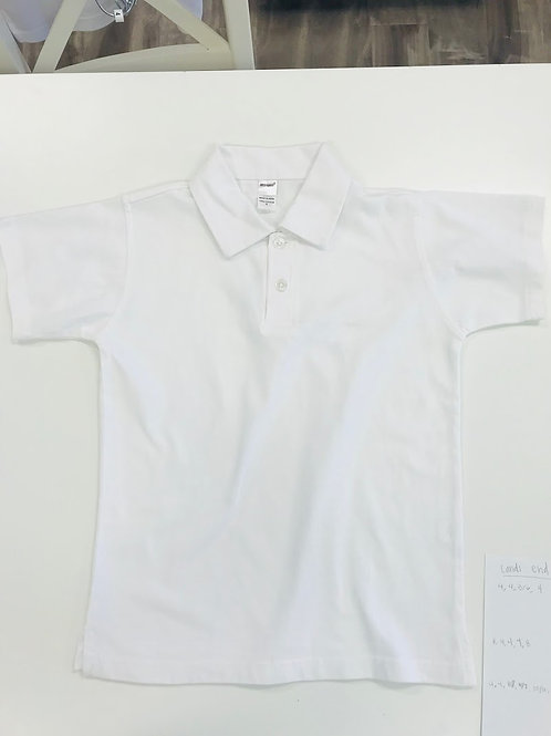 White Polo-Soft Weave