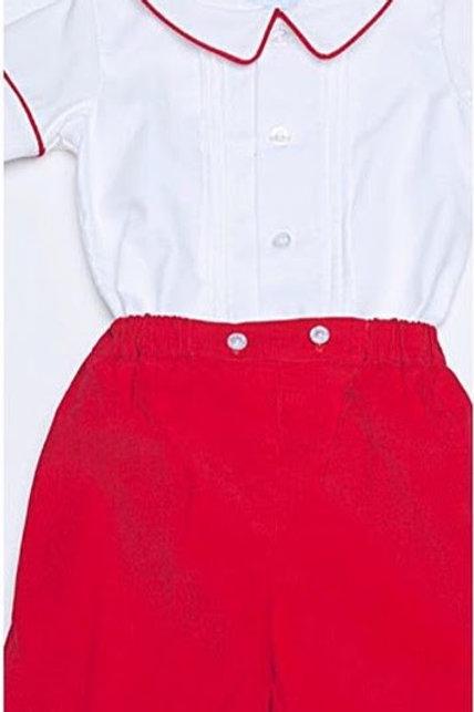 Little English Red Davant Short Set