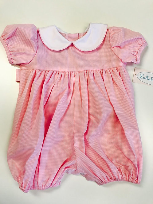 Lullaby Set Pink Gingham Bubble