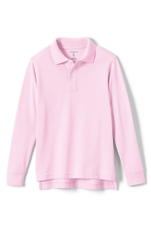 Polo- Pink Lands End Pique