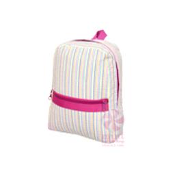 Rainbow Seersuckier Small/Preschool Backpack by Mint