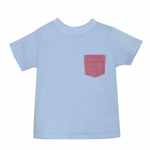 Lullaby Set Light Blue and Red Pocket Tee