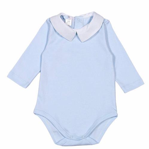 Baby Bliss Pima Light Blue Solid Bodysuit