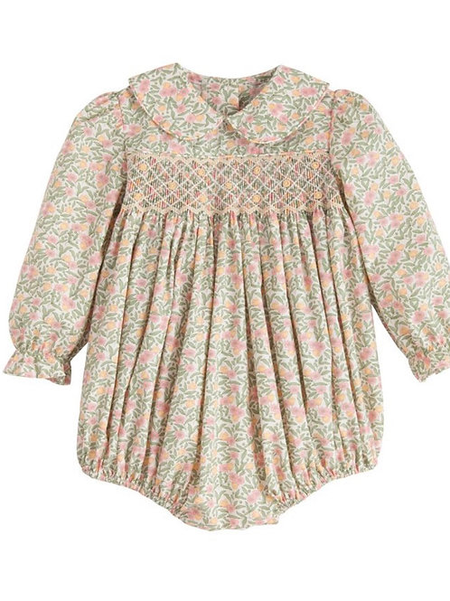 Little English Tree Floral Smocked Charlotte Bubble