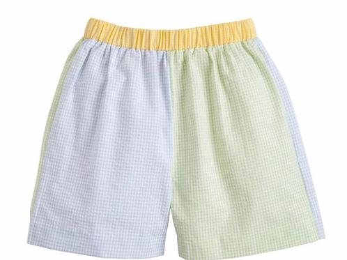 Little English Color Block Shorts
