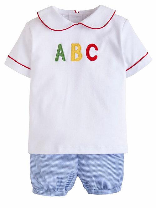 Little English ABC Applique Short Set 12 mo-4t