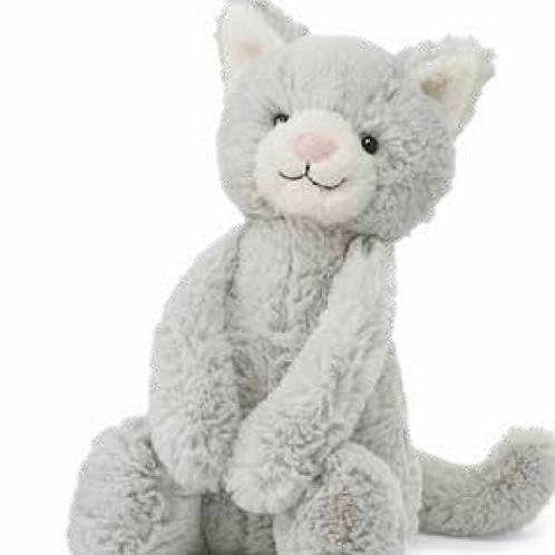 Jellycat Medium Bashful Grey Kitten