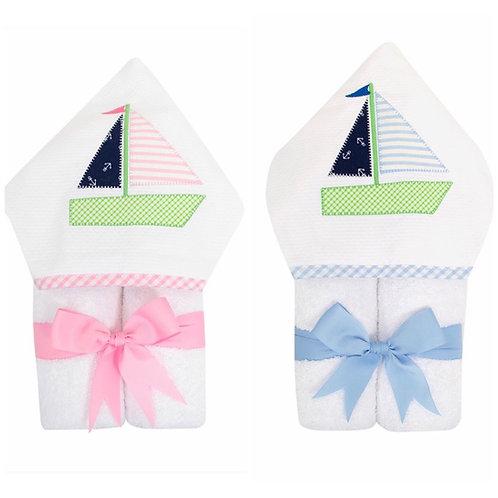 3 Martha's Sailboat Hooded Towel