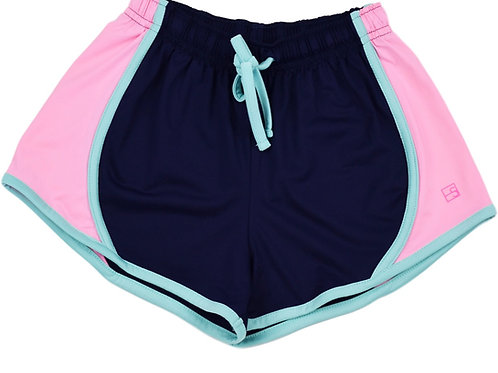 Set Athleisure Navy and Pink Elise Shorts