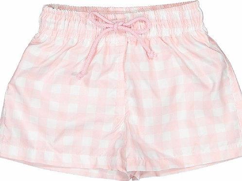 Sal & Pimenta Boys Pink Square One Swim Trunks12, 18 mo