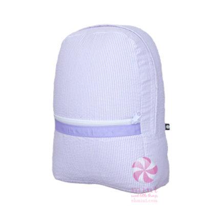 Lavender Seersucker Medium Backpack by Mint