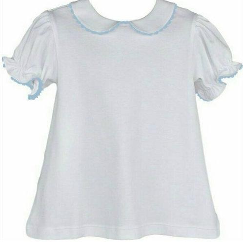 Lullaby Set Light Blue Ric Rac Knit Blouse