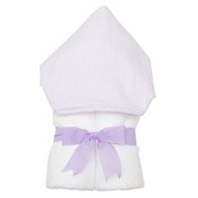 Hooded Towel-Lavender Seersucker