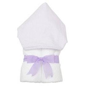 Hooded Towel-Lavender Seersucker