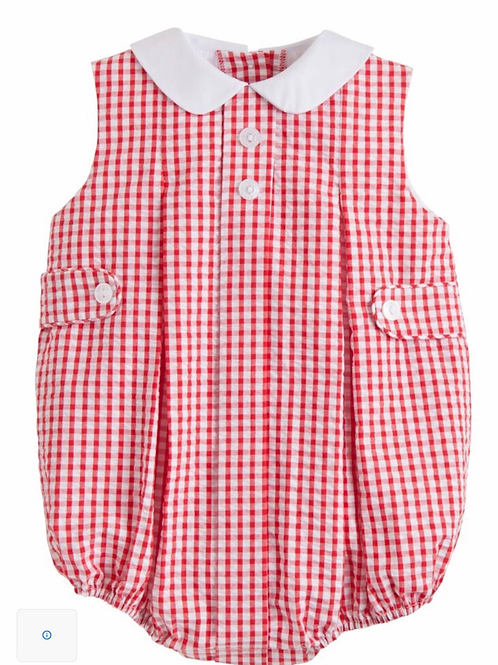 Little English Red Gingham Nicholas Bubble
