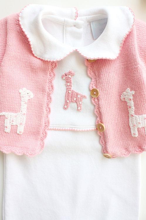 Little English Pink Giraffe Sweater