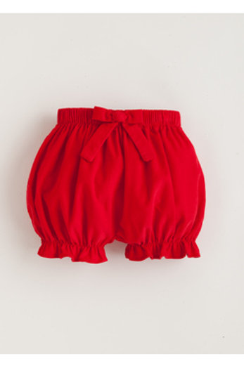 Little English Red Cord Bow Bloomers 3, 6, 24 mo, 3t, 4t