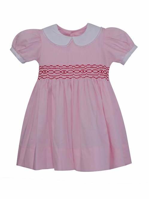 Lullaby Set Pink and Red Smocked Dress