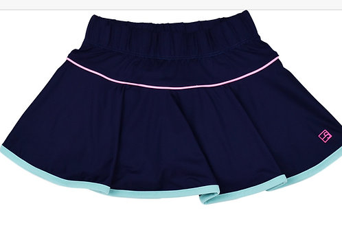 Set Athleisure Navy, Turquoise and Pink Quinn Skort