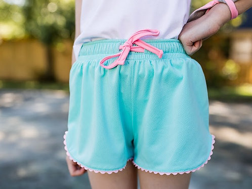 SET Athleisure Teal with Pink Everyday Shorts