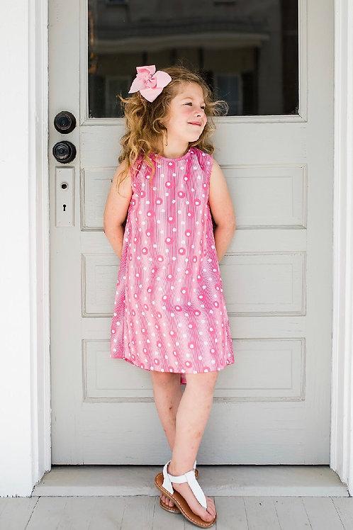 SET Athleisure Hot Pink Circles Dress 6,7