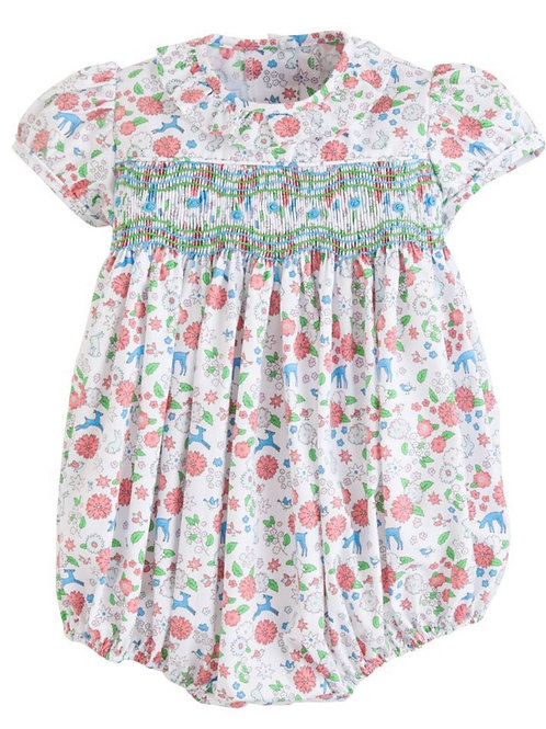 Little English Smocked Caroline Woodsy Bubble