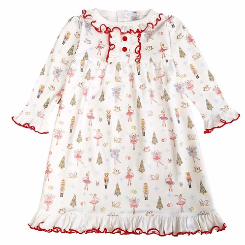 Baby Bliss Pima Pastel Nutcracker Gown