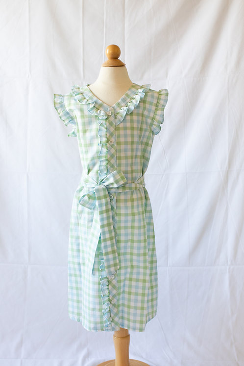 Peggy Green Chapel Hill Check Dress sizes 6-14