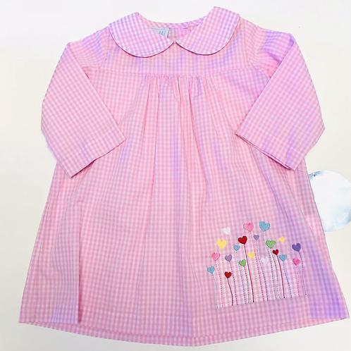 Pink Gingham Heart Dress