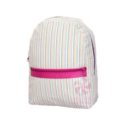 Rainbow Seersucker Medium Backpack by Mint
