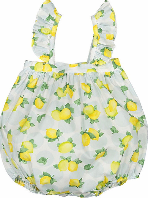 Sal & Pimenta Blue Lemonade Frilly Bubble 9, 12, 18 mo