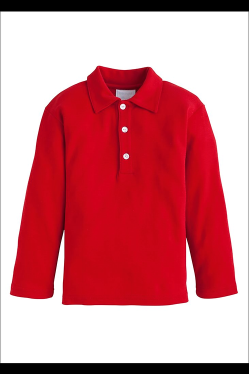 Little English Red Eaton Pima Polo size 5