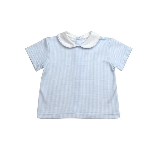 Lullaby Set Blue Gingham Pima Sibley Shirt