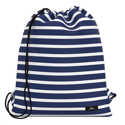 Scout old school bag in navy stripe
