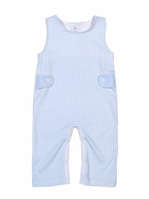 Baby Bliss Pima Light Blue Gingham Longall