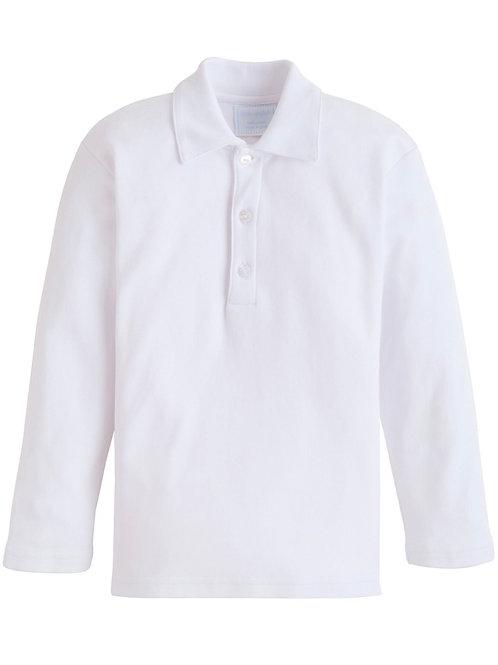 Little English White Eaton Pima Polo size 7