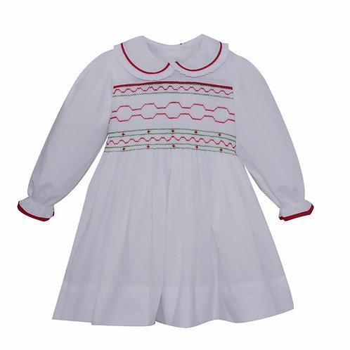 Lullaby Set Smocked Christmas Dress