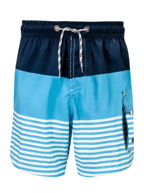 Snapper Rock blue striped boardies 12, 16